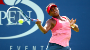 Tornado Black shows off remarkable game to go with memorable name at junior girls' US Open tennis tournament