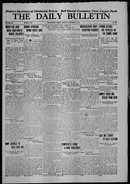 The Daily Bulletin (Brownwood, Tex.), Vol. 15, No. 282, Ed. 1 Monday, September 11, 1916