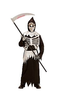 "0399 - ""GRIM REAPER"" (tunic with rib cage, belt, hooded mask)"