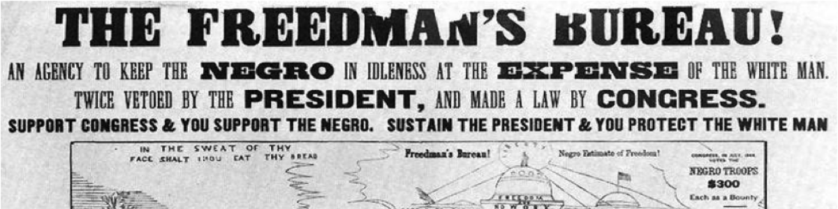 Headline for Freedman's Bureau in Texas