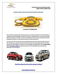 Book your taxi in udaipur through onlines