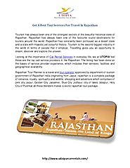 Get A Best Taxi Services For Travel In Rajasthan - PdfSR.com