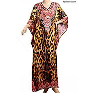 Butterfly chiffon kaftan Dress