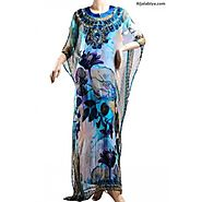 Moroccan kaftan Chiffon and satin Dress