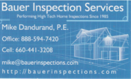 Bauer Inspection & Consulting Services- Michael Dandurand