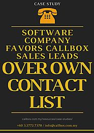 Software Company Favors Callbox Sales Leads Over Own Contact List