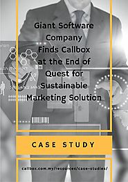 Giant Software Company Finds Callbox at the End of Quest for Sustainable Marketing Solution