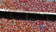 Annual football game known as the Red River Rivalry Texas vs Oklahoma