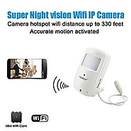Conbrov® WF28 HD Wireless Home Wifi Ip Hidden Video Camera Security Nanny Cam with Super Night Vision and Motion Acti...