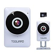 TOGUARD Mini HD Wifi Surveillance Camera Home Baby Monitor Camera with 185° Panorama View Fisheye Lens, Night Vision,...