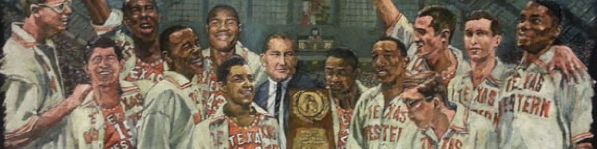 Headline for Texas Western Miners and their 1966 NCAA Basketball Championship