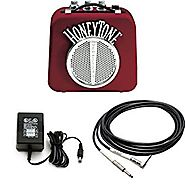 Danelectro N10B Honey Tone Mini Amp in Burgundy With 9V power Adapter and 5-Foot Right Angle Plug