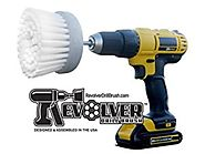 Revolver Drill Brush - Power Scrubbing Drill Attachment - Multi-Purpose Cleaning Tool