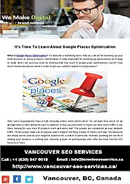 Learn About Google Places Optimization