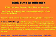Help you to find your correct birth time