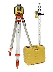 Topcon RL-H4C Rotary Laser Kit, Includes: RL-H4C Self Leveling Rotary Laser, Aluminum Flat Head Tripod and 8ft Alumin...