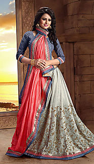 old rose & fawn georgette saree