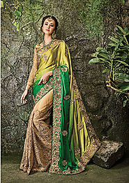 multi color georgette, saree