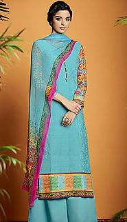 bule cotton salwar kameez