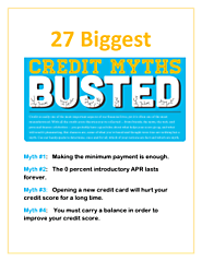 Credit Card Debt Myths