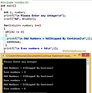 Continue Statement in C Programming
