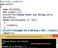 C Program to Find Length of a String