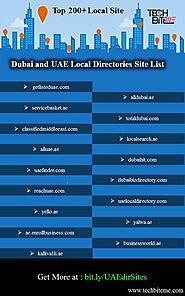 Top 200+ Dubai Local Classified Site List