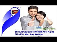 Shilajit Capsules Herbal Anti Aging Pills For Men And Women