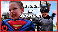 Batman v Superman Superheroes battle in real life movie | SuperHero Kids