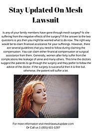 Stay Updated On Mesh Lawsuit