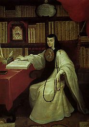Sor Juana in her library - Picture use