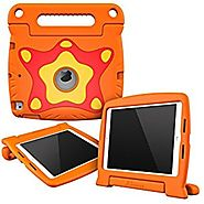 rooCASE ORB 360 Shock Proof Protective Lightweight Tough Armor Case Cover Convertible Carrying Handle Stand - Orange