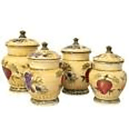 Tuscan 4-Piece Kitchen Canister Set