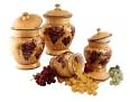 Tuscan Grapes 4-Piece Kitchen Canister Set