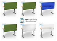 Modern Office Partitions & Desk Dividers by Merge Works