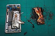 The post mortem…. here's how the phone looked after it exploded