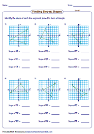 Slopes of Triangles worksheet