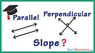 Slopes of Parallel and Perpendicular Lines ( GMAT / GRE / CAT / Bank PO / SSC CGL)