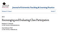 Encouraging and Evaluating Class Participation