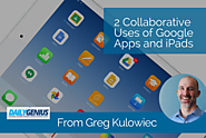 2 Collaborative Uses of Google Apps and iPads - from Greg Kulowiec - EdTechTeacher