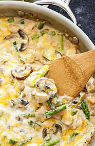 One Pot Creamy Chicken and Asparagus Casserole