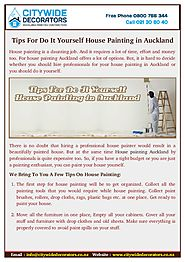 Find Tips For Do House Painting in Auckland