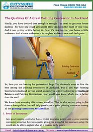 Find Painting Contractor In Auckland for Great Quality Painting