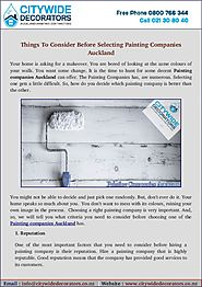 Find Ideas Before Choosing Any Painting Companies Auckland