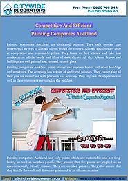 Find Affordable And Nominated Painting Companies Auckland