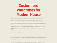Customised Wardrobes for Modern House