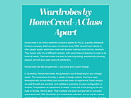 Wardrobes by HomeCreed- A Class Apart