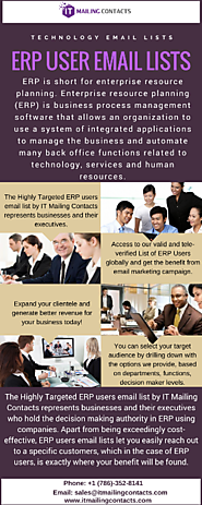 Increase Sales Productivity with Access to ERP User Email List