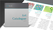 Free Art Catalogue InDesign template. Design your own catalog - Free.