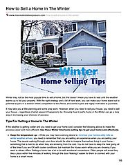 The Top Winter Home Selling Tips